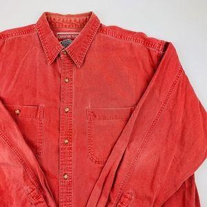 VTG Marlboro Adventure Team Denim Button Up Shirt